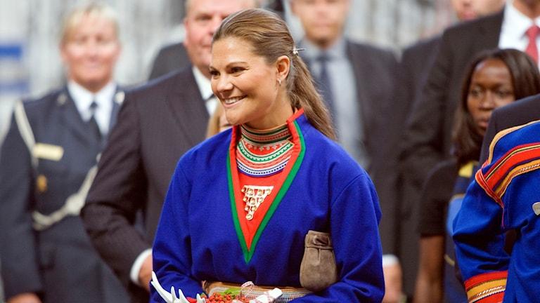 Kronprinsessan Victoria närvarade vid Sametingets öppnande i Kiruna, augusti 2009