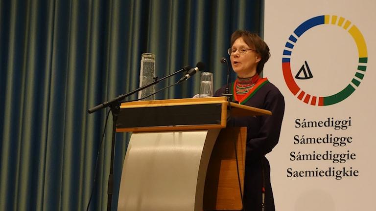 Marita Stinnerbom på plenum i Trondheim