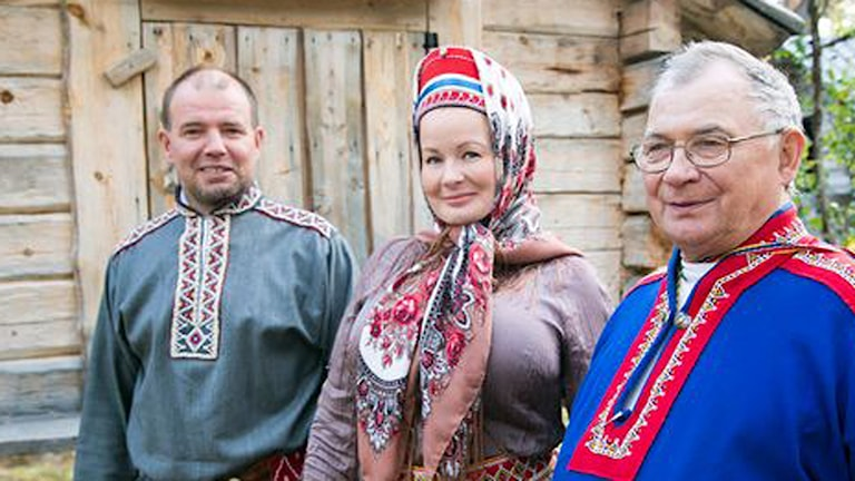 Veikko Feodoroff, Tanja Sanila och Sergei Kp Fofonoff.