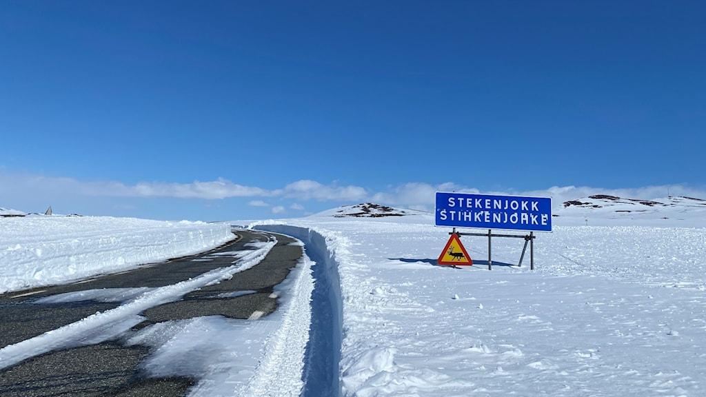 Vildmarksvägen över Stekenjokk i maj 2021.