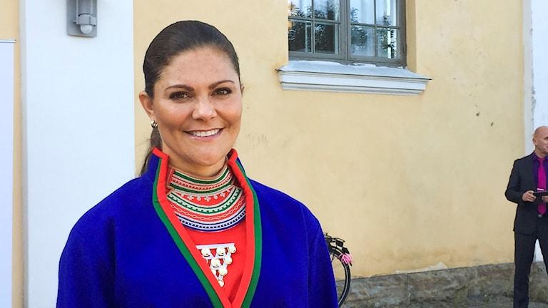 Kronprinsessan Victoria på plats för invigningen av Sametingets sjunde mandatperiod. Foto Sameradion & SVT Sápmi.