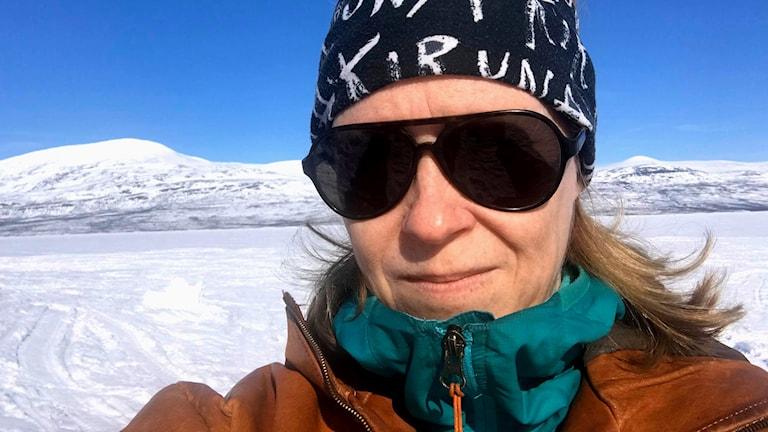 Christina Sandell, Göteborg, och familjen åker upp till kirunafjällen varje vår men inte i år.