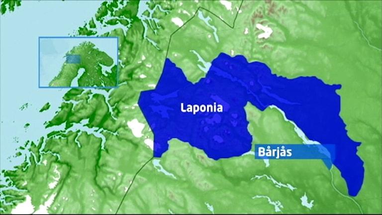 Grafik över världsarvet Laponia.