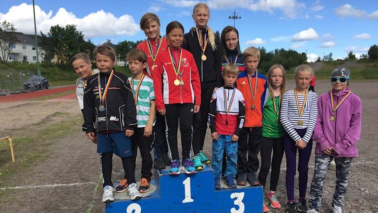 Medaljörer ungdomsstafett 11-13 år