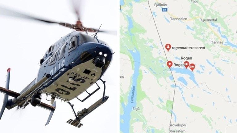 Polishelikopter och Sjöräddningens helikopter, från Umeå, ska återuppta sökandet efter de fyra försvunna i Rogenområdet på onsdagsmorgonen, om vädret tillåter.