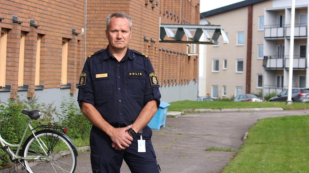 Stefan Thyni är polis i Kiruna.