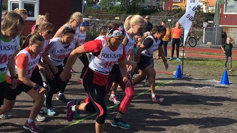 Damerna startar i terränglöpningen i Same-sm i Kiruna
