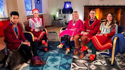 Ailo Thomassen, Marja Påve, Ella-Li Spik, Antaris Vannar, Leila Nutti, talkshow nationaldagen 2018