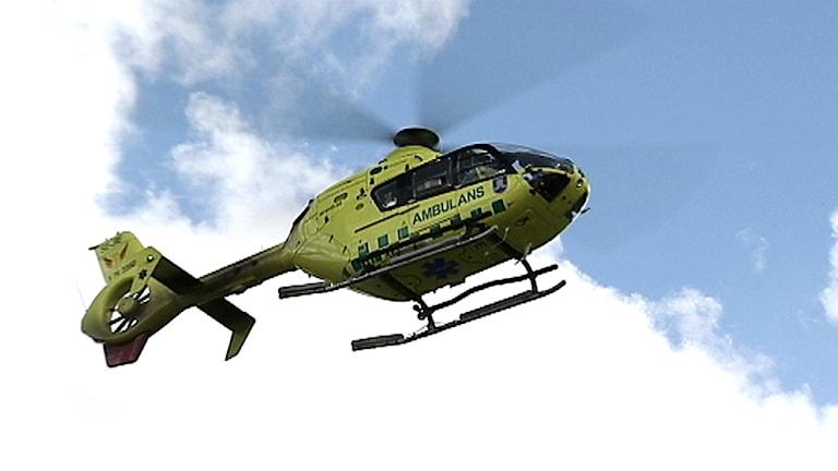 Ambulanshelikopter. Foto: SVT