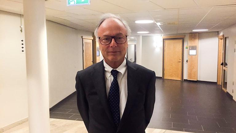 Girjasrättegången: Samebyns advokat Peter Danowsky vid hovrättsförhandlingarna i Umeå