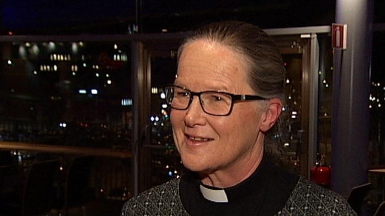Åsa Nyström, easka válljejuvvon ođđa bispán Juleva bismagottis.