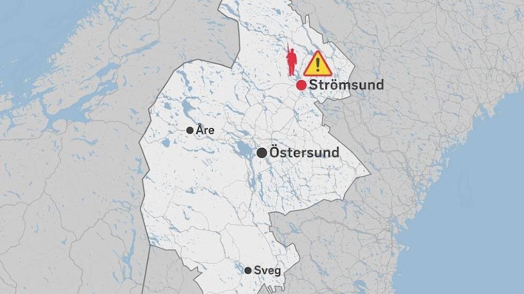 Karta Jämtland