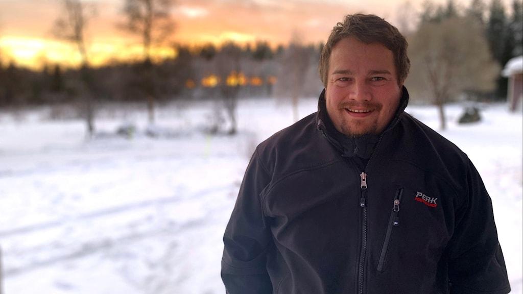 Joakim Påve, partiledare för Álbmut i Sametinget.