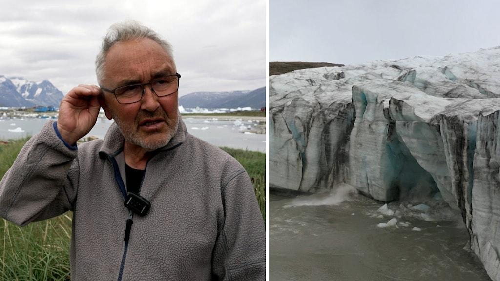 Isen smälter på Grönland. Fiskaren Hans Lars Jensen