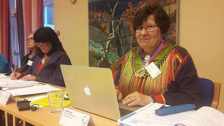 Ingrid Inga la motionen om att sätta upp miljömål för Sametinget.