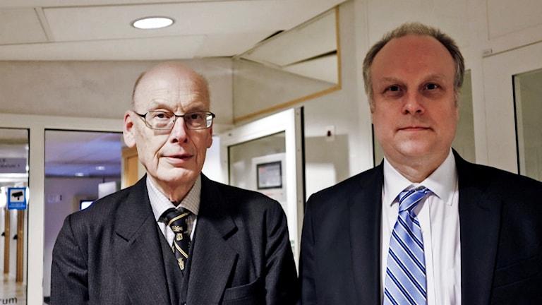 Girjasmålet: Statens advokater Hans Forssell och Jonas Löttiger.
