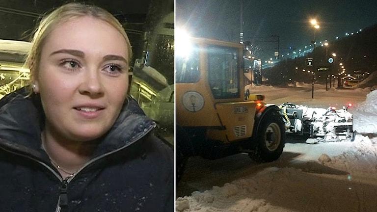 Sandra Tastula var en av de turister som blev fast i Åre efter stormen Cora