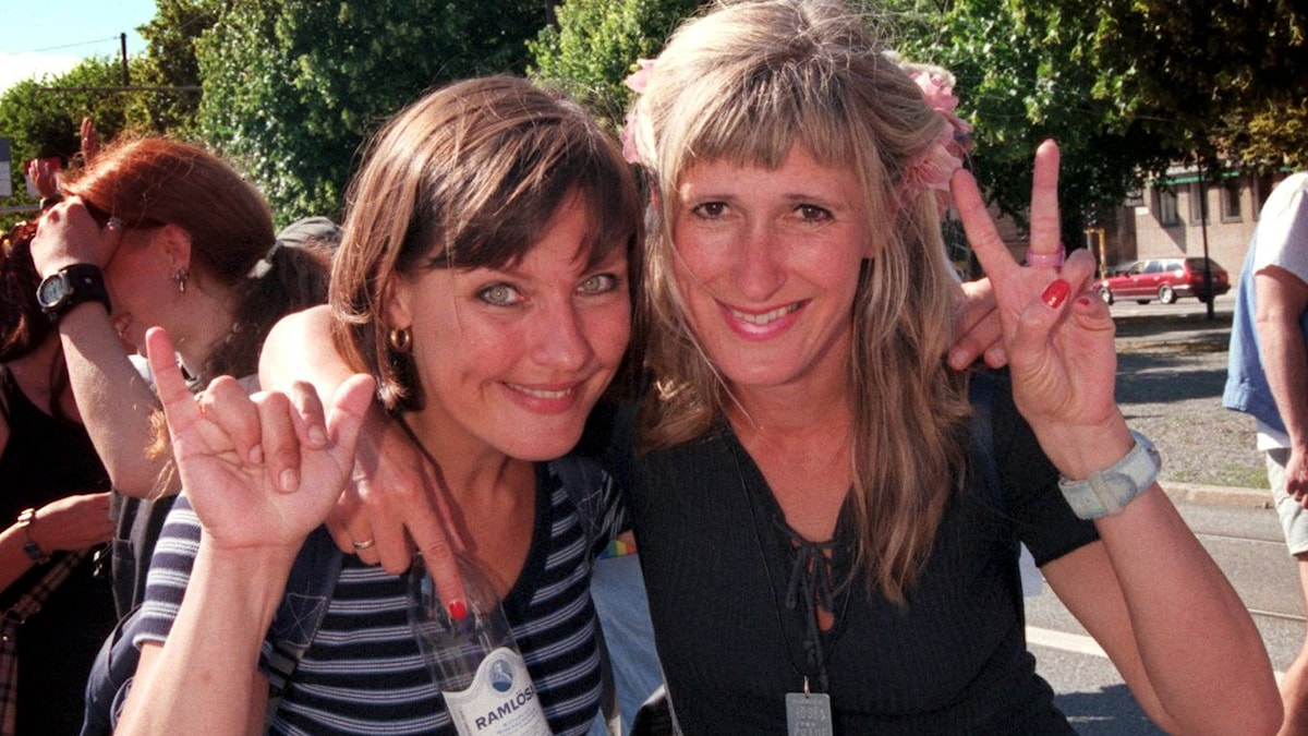 Anna-Lena Bergelin och Lill-Marit Bugge. Foto: Michael Brannäs/Scanpix.