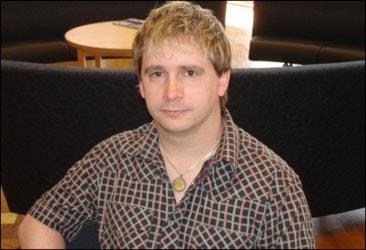 Håkan Fleischer, doktorand på HLK Foto:Andreas Crona/SR.