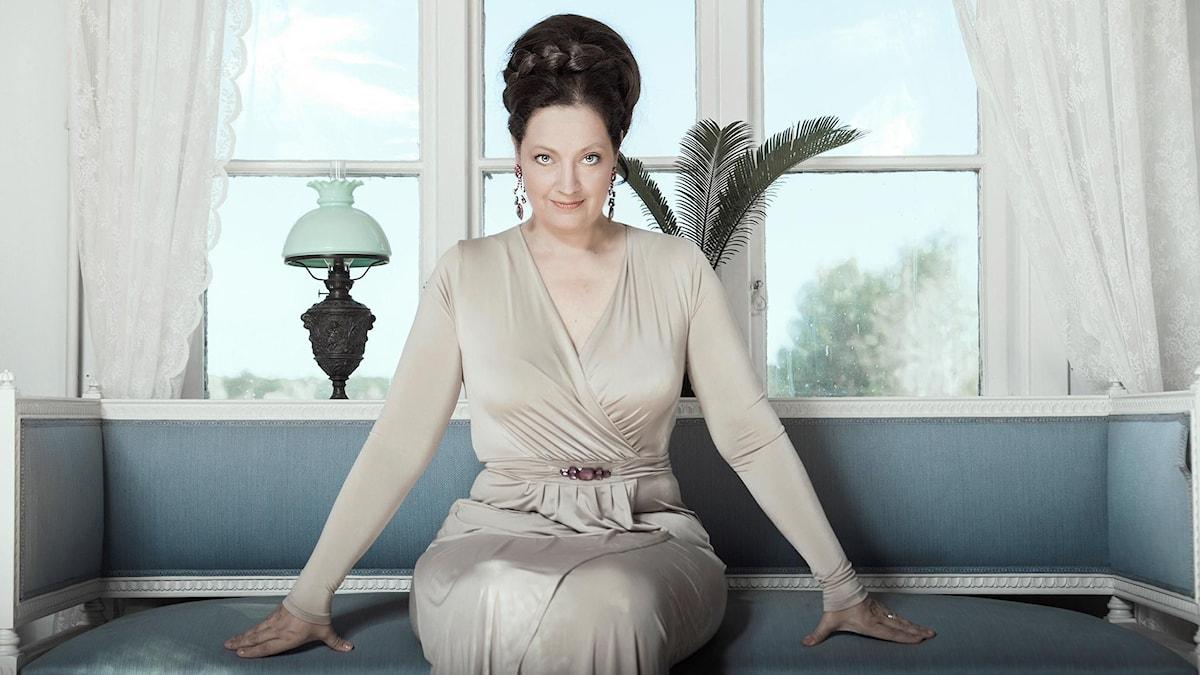 Ann Hallenberg i titelrollen som korsriddaren Ariodante när Händels opera sätts upp på Drottningholms Slottsteater.