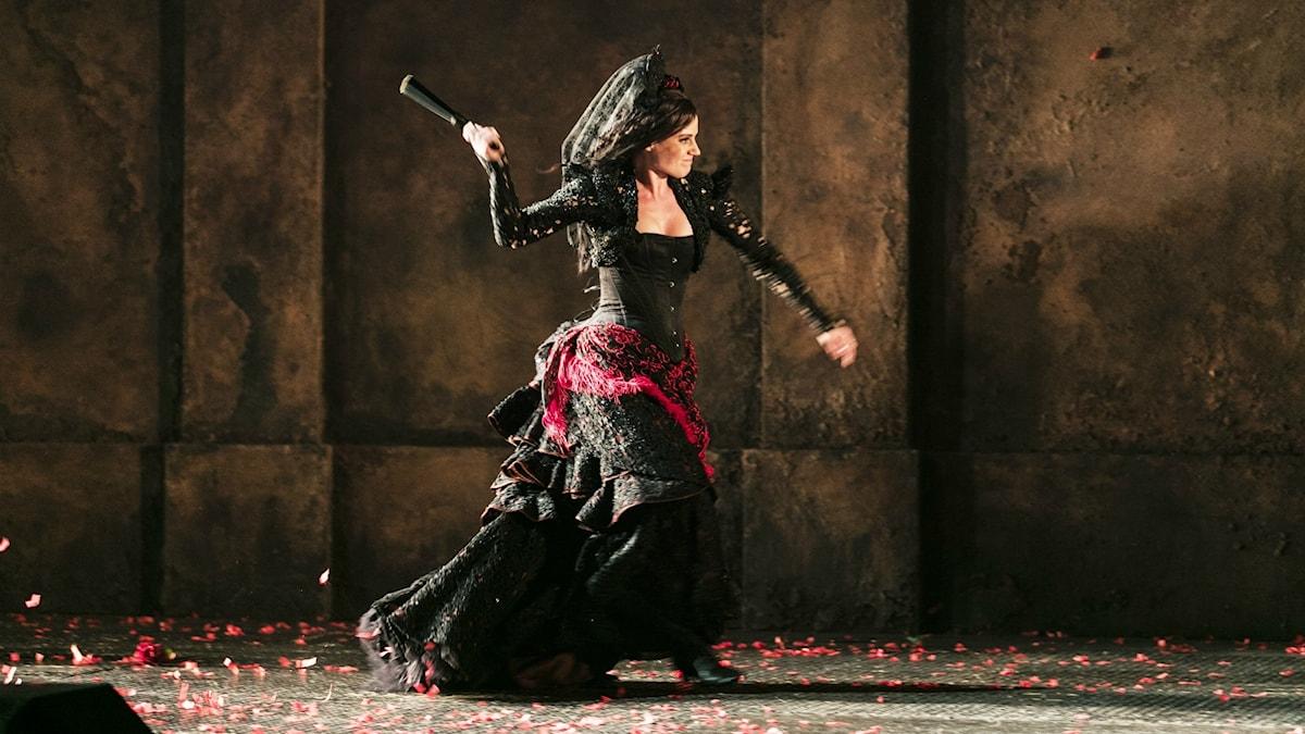 Katarina Giotas som Carmen i Göteborgsoperans uppsättning.