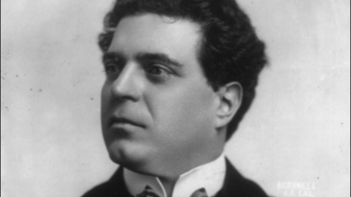Den italienska tonsättaren Pietro Mascagni.