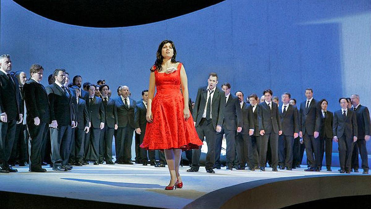 Marina Rebeka som Violetta. Ken Howard/The Metropolitan Opera