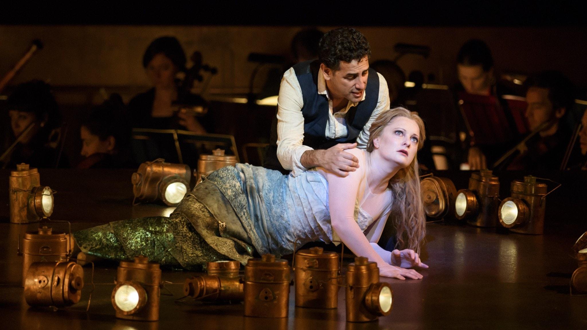 """Tenoren Juan Diego Florez och sopranen Lucy Crowe i Glucks """"Orfeus och Eurydike""""."""