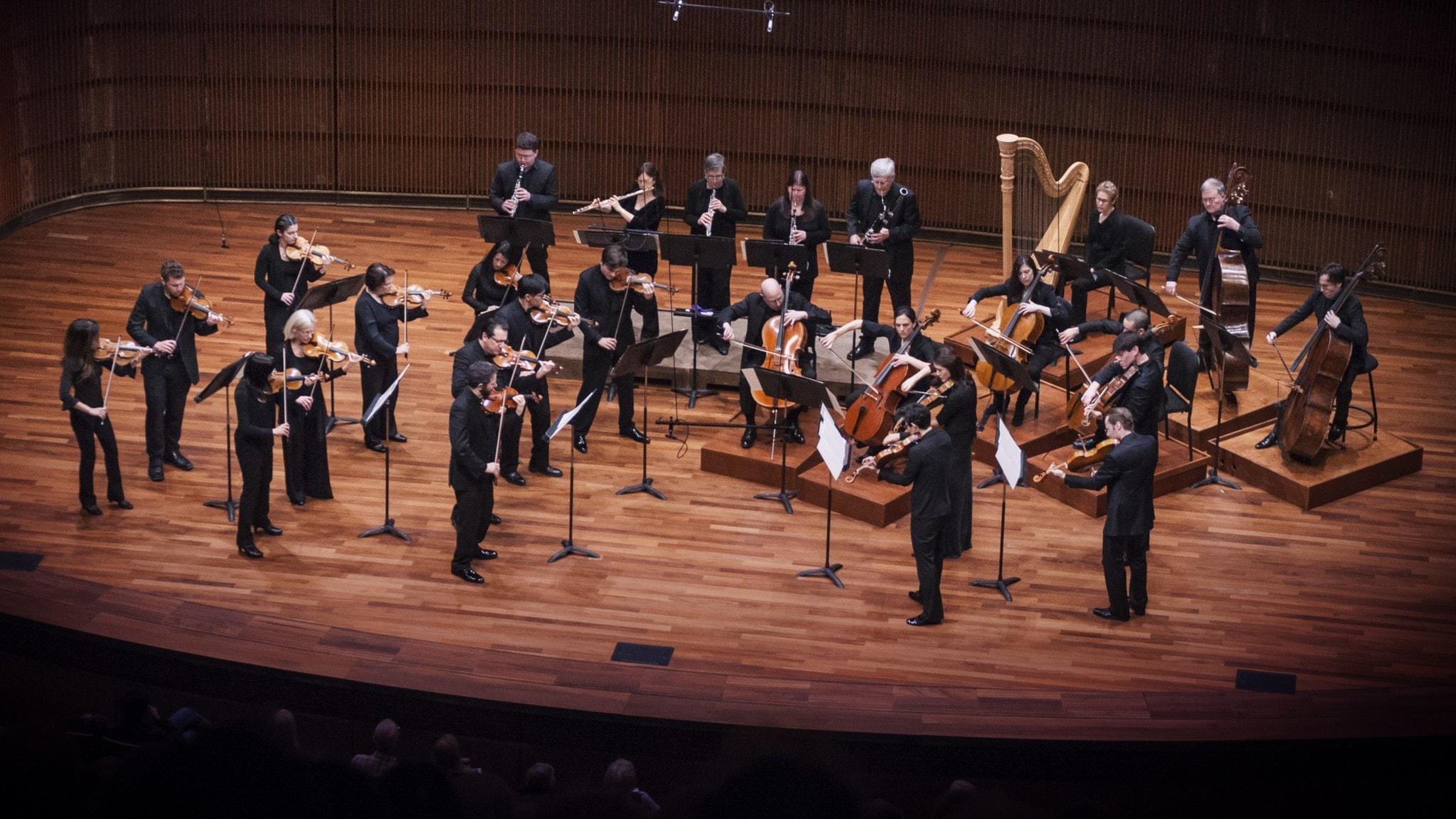 S:t Paul Chamber Orchestra spelar i Ordway-centret. Arkivbild. Foto: Chelsea Tischler
