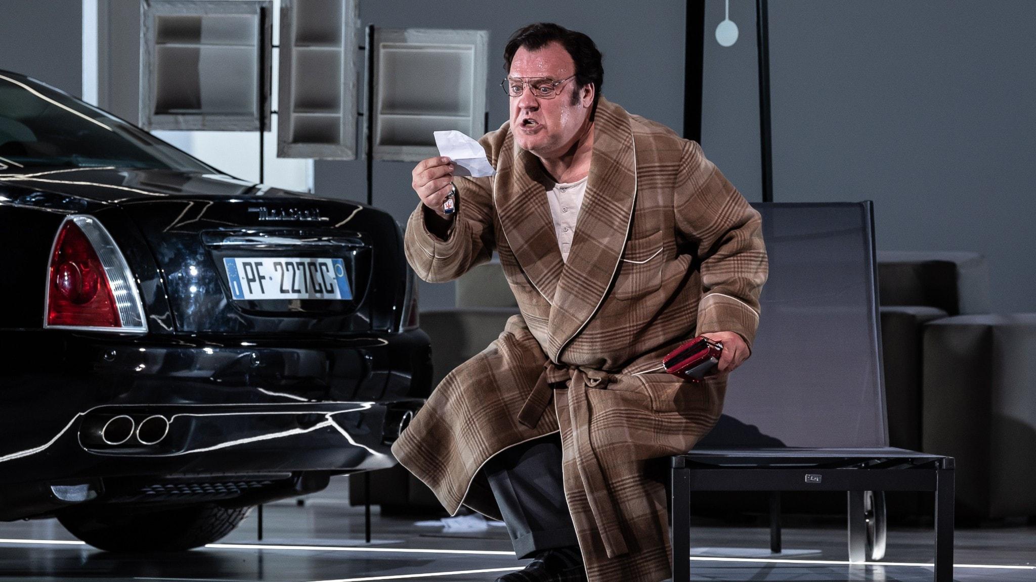 Bryn Terfel i rollen som Don Pasquale. Foto: ROH/Clive-Barda