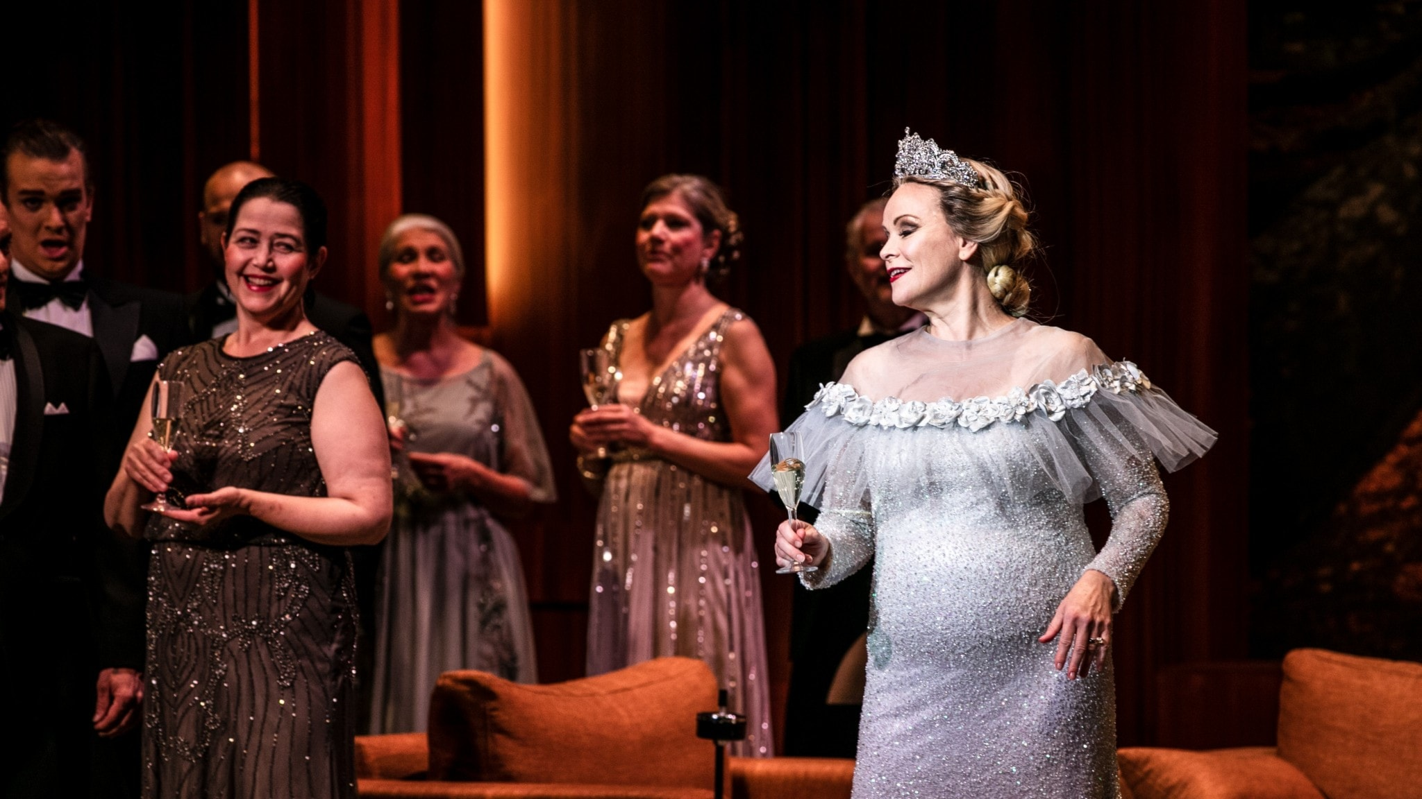 Bild: Hege Gustava Tjønn i rollen som Lady Macbeth.
