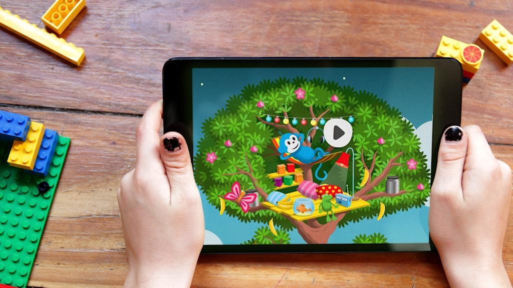 Radioapans kojträd finns för Android och Iphone/Ipad.