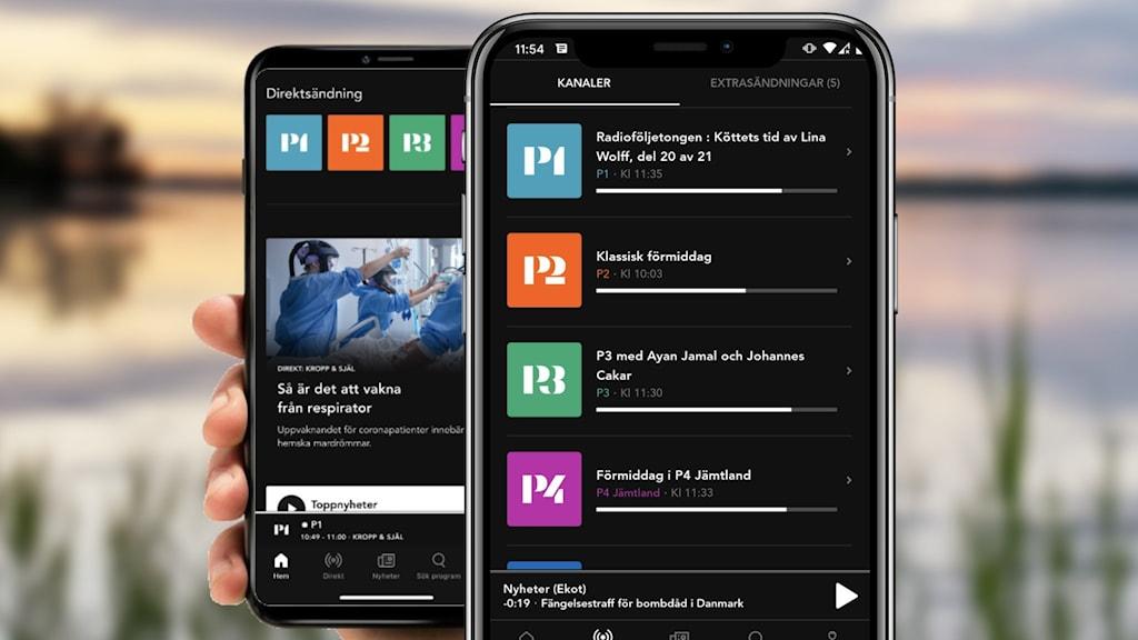 Bilder visar appen Sveriges Radio Play.