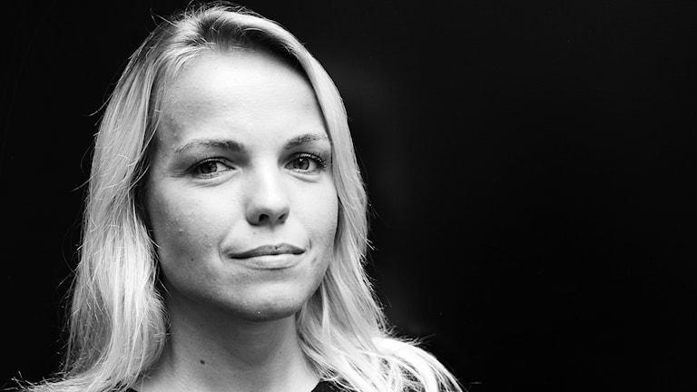 Evelina Olsson, reporter på P4 Malmöhus. Foto: Hans Zillén/Sveriges Radio.