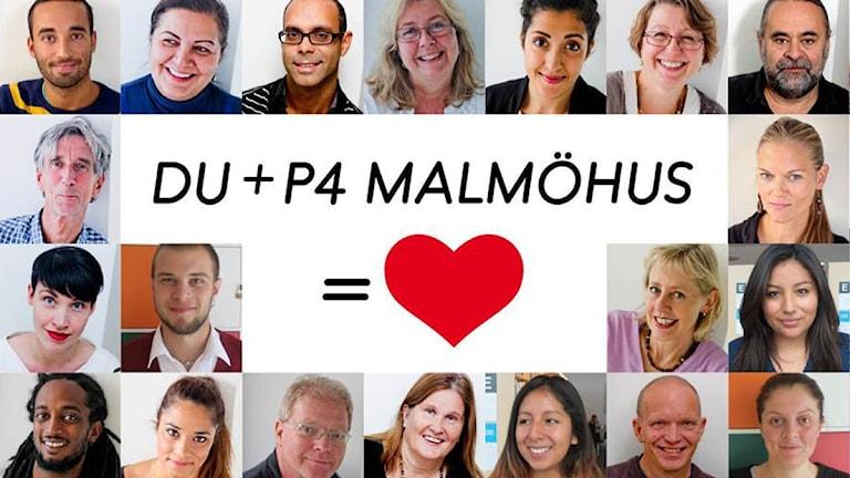 Kampanjbild för P4 Malmöhus publiknätverk. Foto: Sveriges Radio.