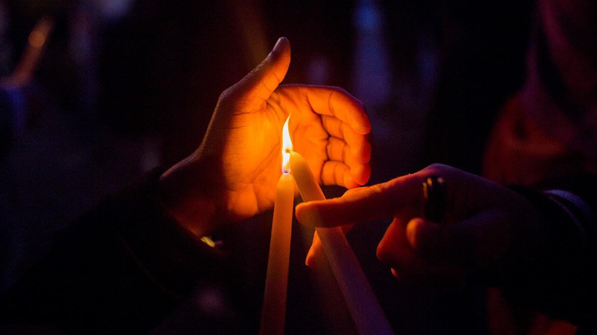 Tänt ljus