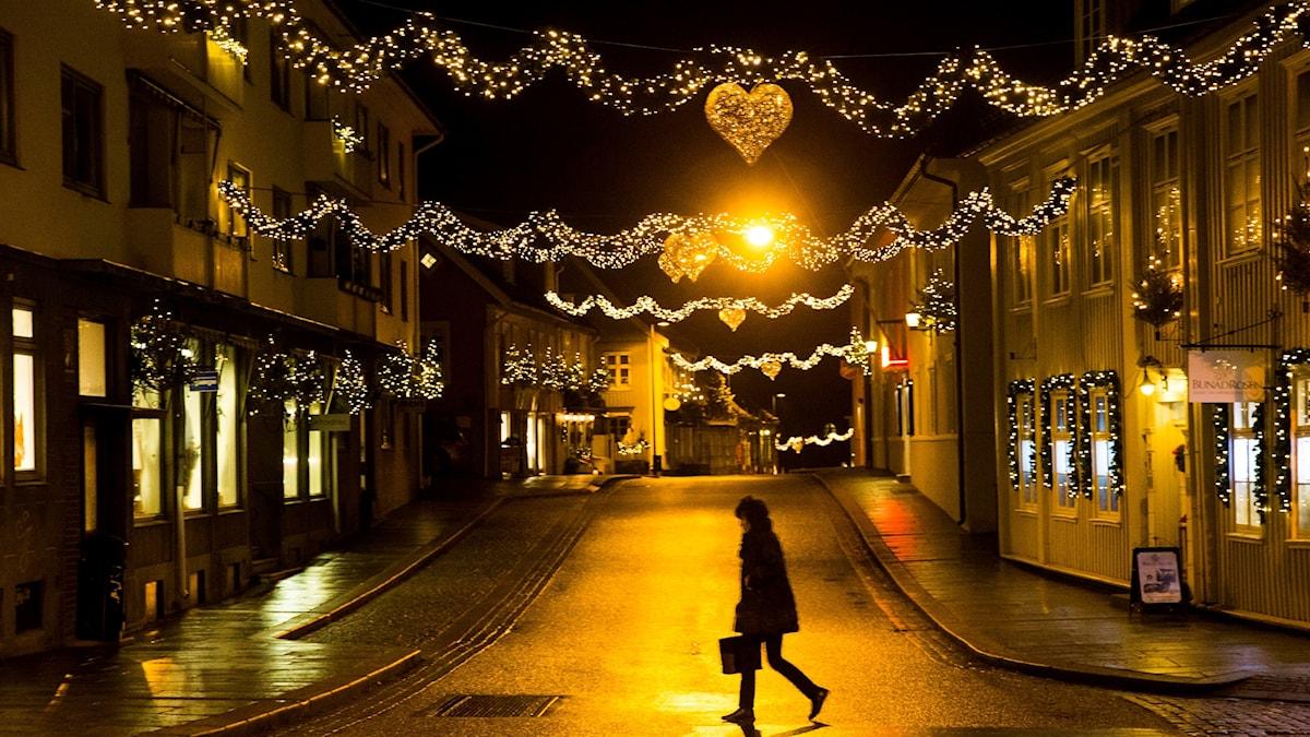 Julskyltning stad