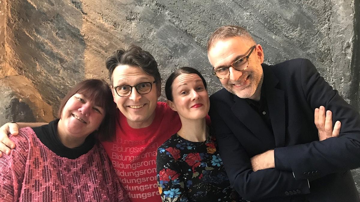 Veckans panel: Evabritt Selén, Alexander Freudenthal, Johanna Paulsson och Johan Korssell.