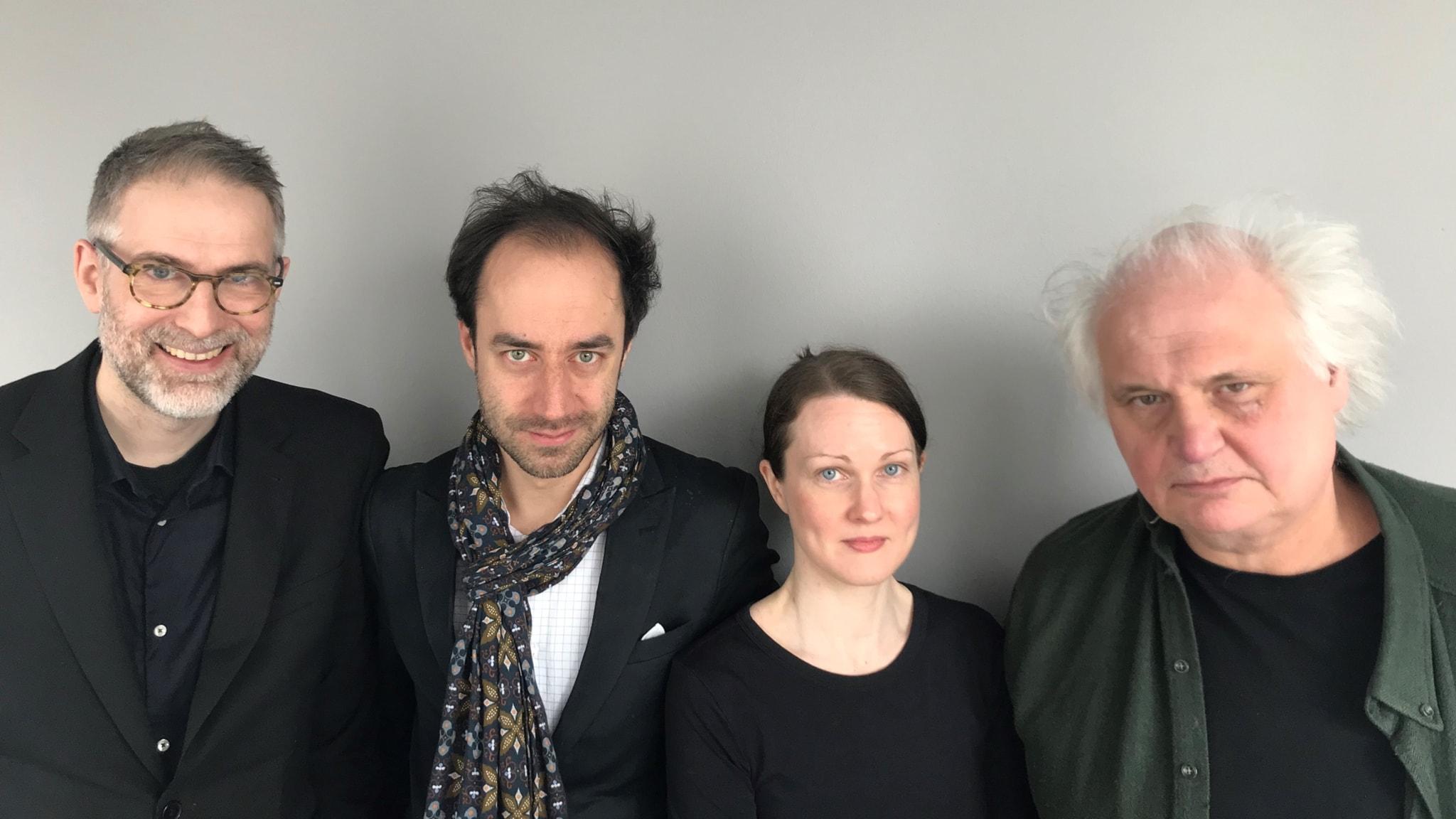 Johan Korssell, Edward Klingspor, Johanna Paulsson och Göran Greider.