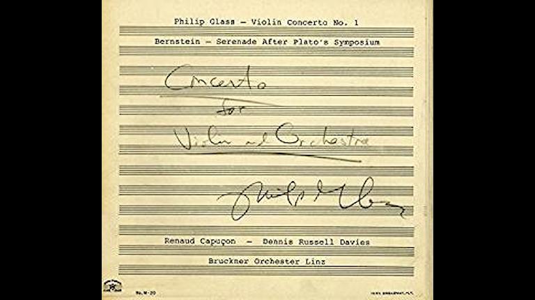 Philip Glass och Bernsteins violinkonserter