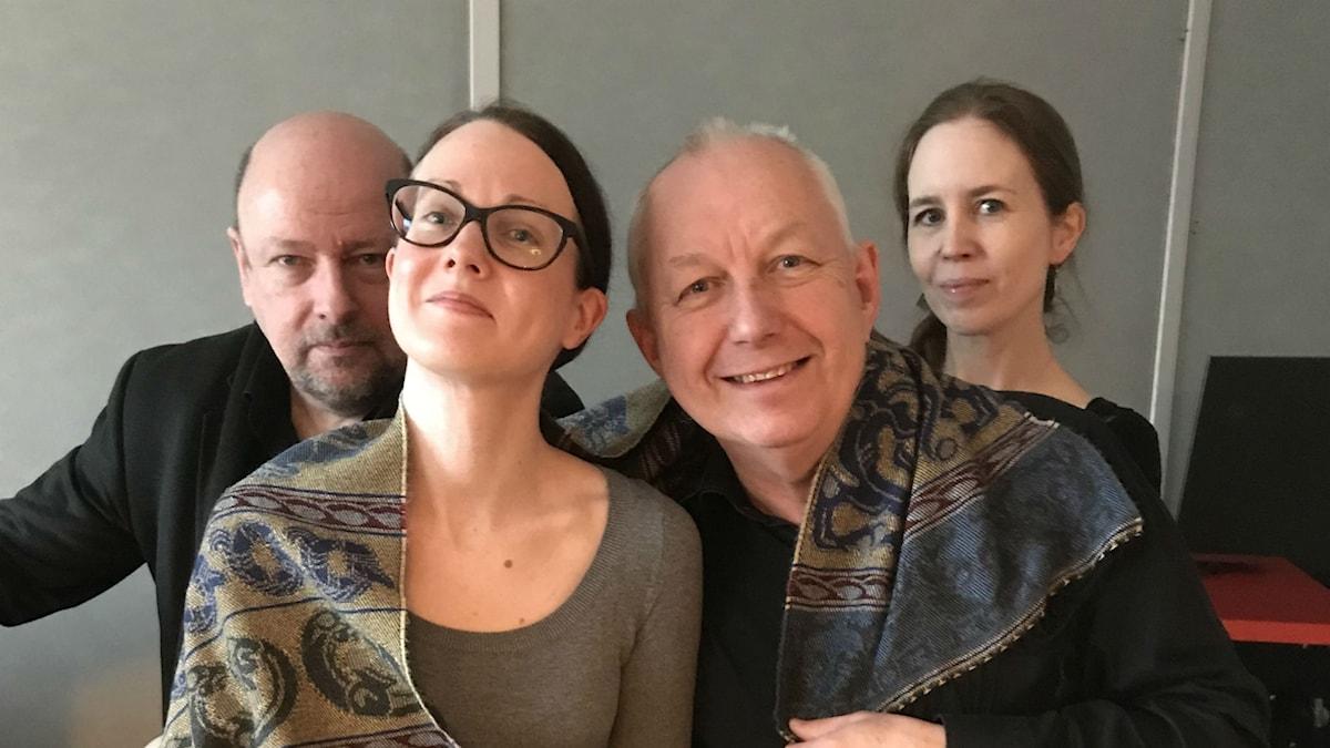 Panelen fr v: Programledaren, Johanna Paulsson, Måns Tengnér och Anna Nyhlin.