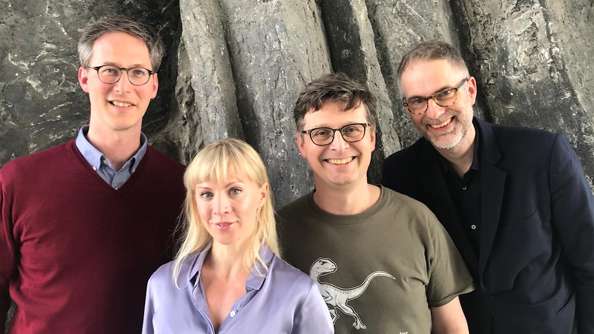 Veckans panel består av Johan Hugosson, Esmeralda Moberg, Alexander Freudenthal och Johan Korssell.