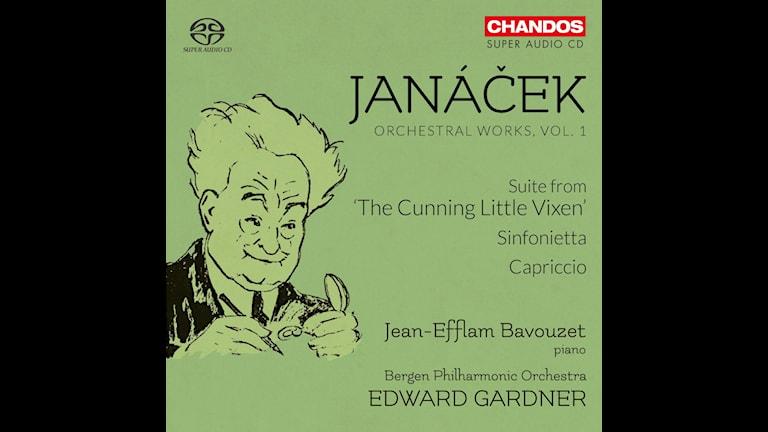CD-omslag till Orkesterverk av Leo Janácek.