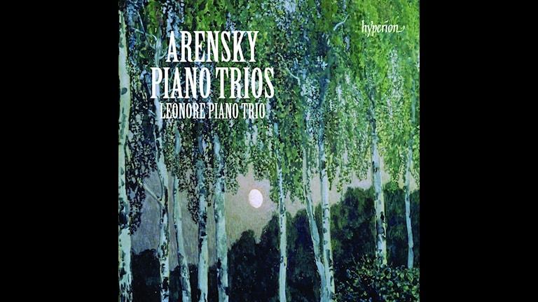 CD-omslag till Leonore-trion framför pianotrior av Anton Arensky.