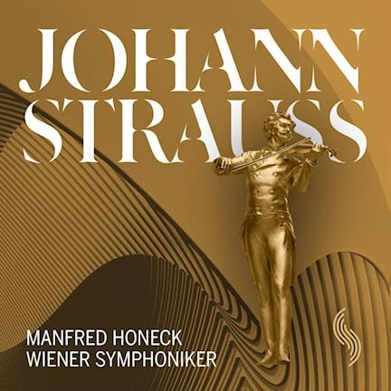 CD-omslag till polkor och valser av Johann Strauss.