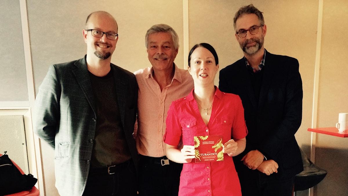 David Björkman, Niklas Lindblad, Johanna Paulsson och Johan Korssell.