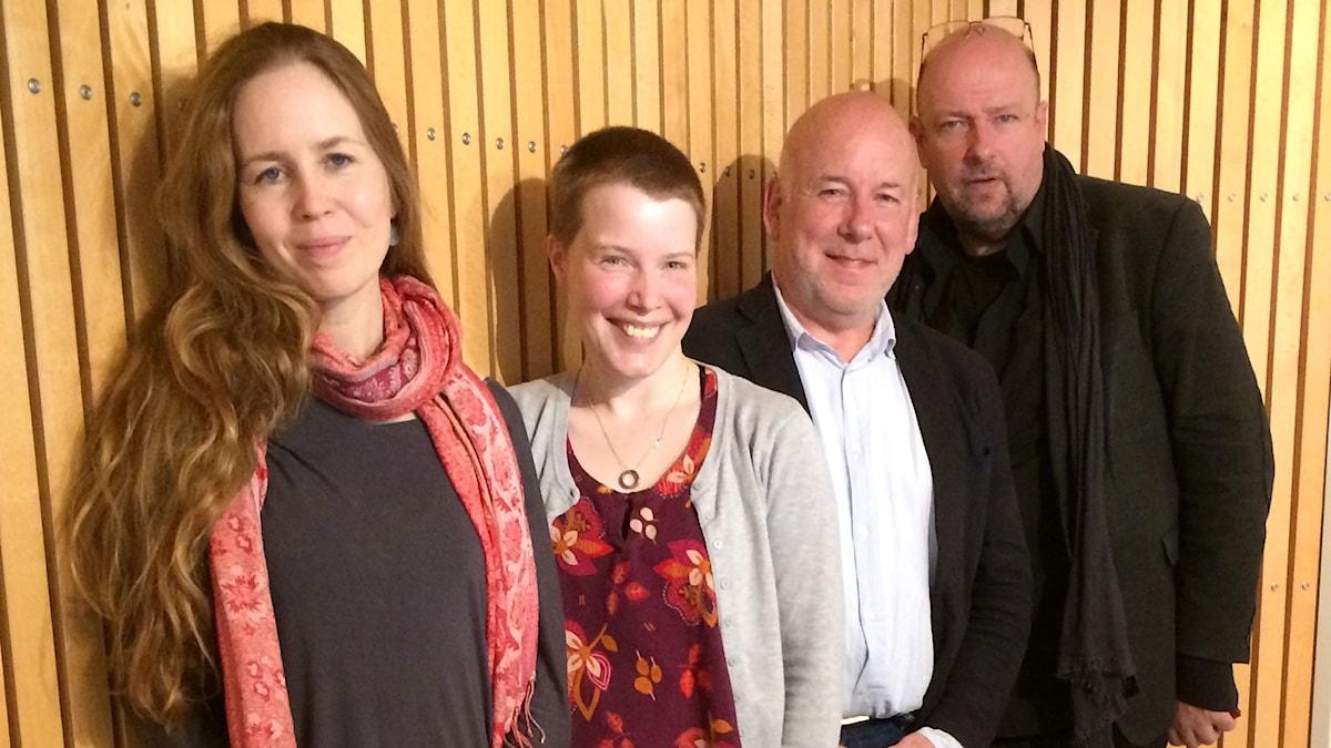 Anna Nyhlin, Hanna Höglund, Evert van Berkel och Magnus Lindman.