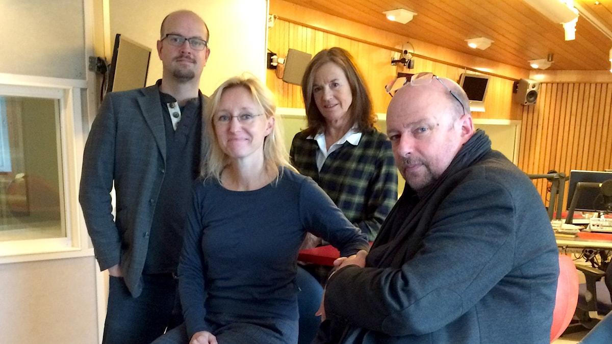 David Björkman, Kati Raitinen, Camilla Lundberg och Magnus Lindman