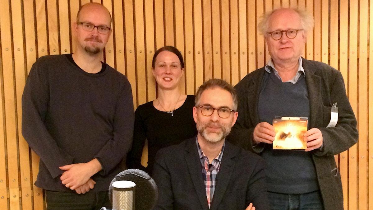 David Björkman, Johanna Paulsson, Johan Korssell och Bengt Forsberg.