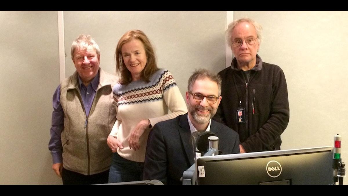 Rainer Clute, Camilla Lundberg, Johan Korsell och Per Lindqvist